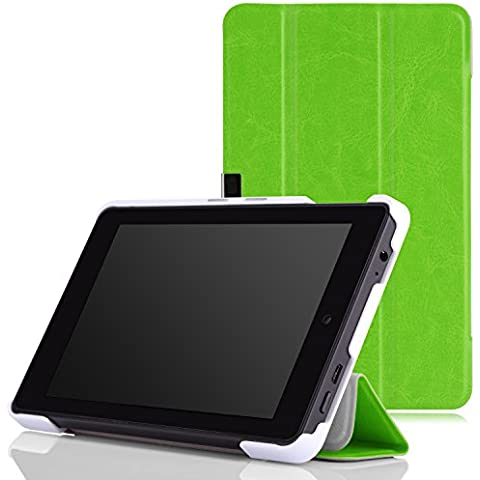 MoKo Amazon Kindle Fire HD 6 2014 Case - Ultra Sottile Leggero Supporto Custodia per Amazon Kindle Fire HD 6 Inch 2014 Tablet, FM VERDE (Con Smart Cover Auto Sveglia /