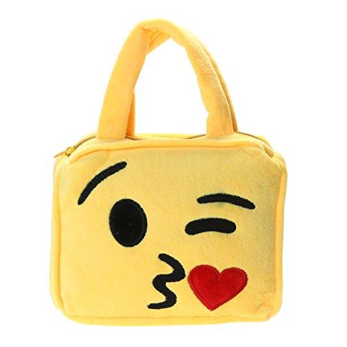 Demiawaking Borsetta a Forma di Espressione Faccia Emoji per Bambine Portamonete Portafoglio 04