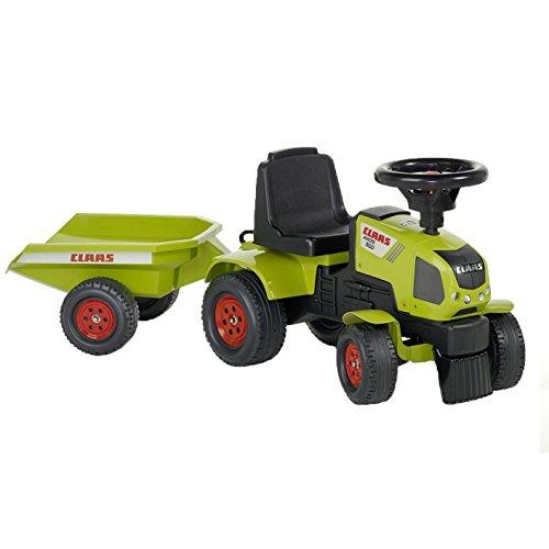 Falk - 1012B - Vélo et Véhicule pour Enfant - Baby Tracteur Claas Axos + Remorque