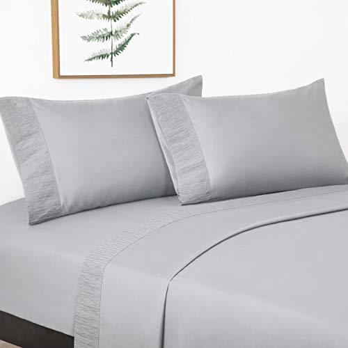 Bedsure Juego de Sábanas 150x200/190 cm - 4 Piezas -...