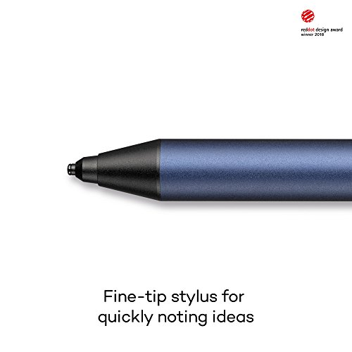 Wacom CS-710B Bamboo Tip Lápiz digital de punta fina / Bolígrafo inteligente para notas o dibujo / Compatible con iOS y Android / 20 horas de uso continuo / Carga USB / Diseño ergonómico / Azul