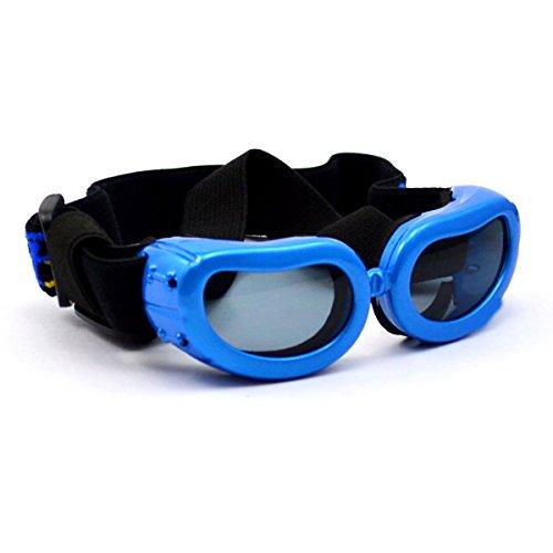 Homedecoam Hund Brille Sonnenbrille UV-Schutz Anti-Fog Brille für Ultra-kleine Hunde Blau