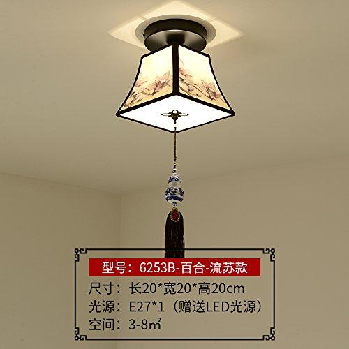 KANG@ Deckenleuchten Transit neue chinesische Korridor horn Form moderne Schlafzimmer Eingang Licht flare Lilien flow mit su (Flare Kronleuchter)