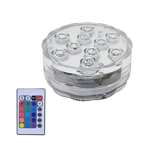 Swimming Pool Light with Remote Control RGB Submersible Light Durable LED Bulb Portable Underwater Night Lamp