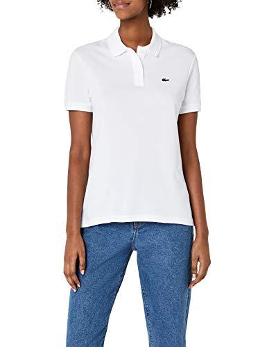 Lacoste Damen Poloshirt Pf7839,Weiß (Blanc),40 (Herstellergröße: 40)