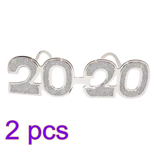 Amosfun 2 Stücke Frohes Neues Jahr Brillen 2020 Party Sonnenbrille 2020 Brillen Lustige Brillen Silvester Party Gläser Frohes Neues Jahr Party Foto Prop 2020 Silvester Party Dekore