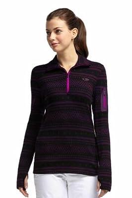 Icebreaker Damen Shirt Unterhemd langarm Rollkragen Vertex Long Sleeve Half Zip Fair Isle von Icebreaker bei Outdoor Shop