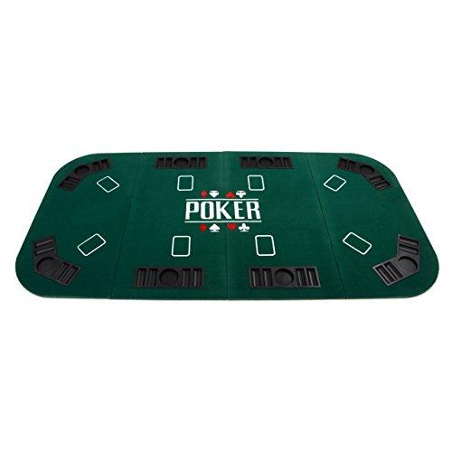 Preisvergleich Produktbild Faltbare Tischauflage Pokertisch Casino Pokerauflage Spieltisch Spielmatte Pokermatte Poker Black Jack Texas Holdem