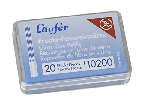 Läufer 10200 Ersatzfasereinsätze für Läufer Glasfaserradierstift, 20 Ersatzpinsel für Glasradierer