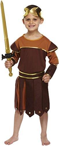 Travestimento per bambino da soldato romano, gladiatore, guerriero greco, età 4–6anni