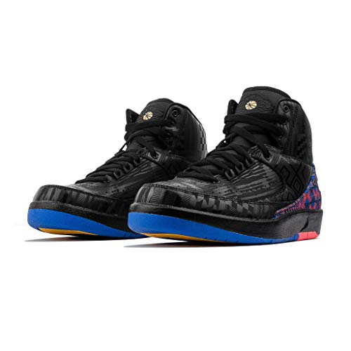 Nike Herren Bq7618-007 Air Jordan 2 Retro BHM, Schwarz (Black/Metallic Gold), 45 EU