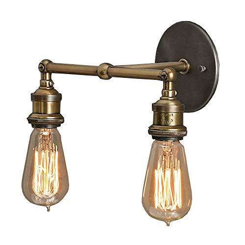 NIUYAO Applique Lámparas de pared Metal Iluminación Bañadores de pared Industrial Retro Vintage 2...