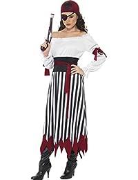 SMIFFYS Travestimento da Adulto Caraibi da Pirata Look Fancy Dress Costume  da Donna 731cc3d4028