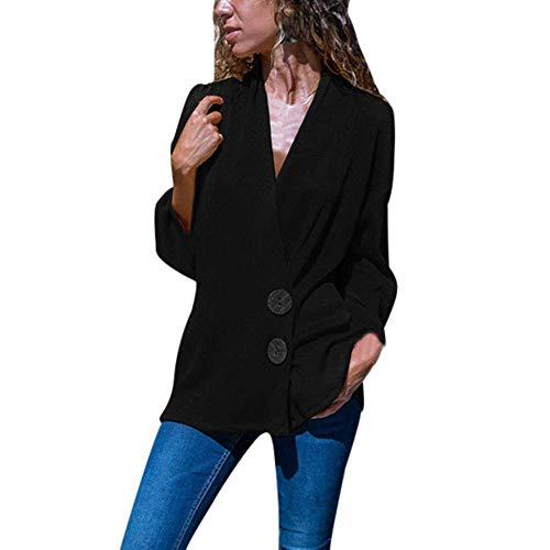 Damen Sweatshirt Strickpullover Deep V Neck Knöchel Für Party Pfe Personalisiertes Stil Hemd Bluse Loose Coat Freizeit Lose Tunika Top Cardigan Mantel Freizeit Tops (Color : Schwarz, Size : M) - Deep V-neck Tunika Top