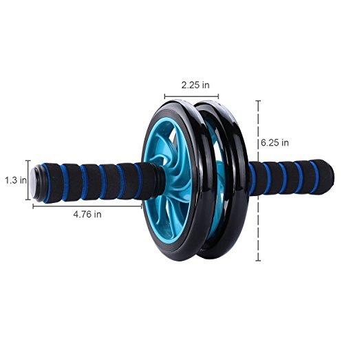Mitavo-AB-Roller-AB-Wheel-Rueda-para-abdomen-con-alfombrilla-para-las-rodillas-para-fitness-y-trabajar-los-msculos-del-abdomenlos-hombroslos-muslos-de-manera-eficiente