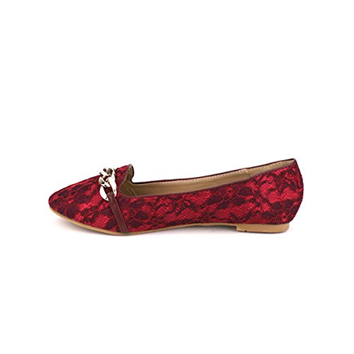 Bordeaux Pizzo Scarpe Pantofole Cendriyon Perrine Donna gf0xXHwxpq
