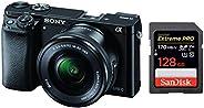 Sony Alpha ILCE 6000L 24.3 MP Mirrorless Digital SLR Camera with 16-50 mm (APS-C Sensor, Eye AF, Light Weight)