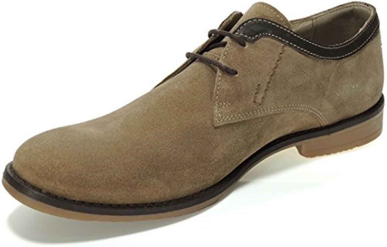 S@KUT. Zapato Casual en Piel Nobk y Cordones para Hombre - Modelo 9008 -