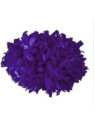 Cheerobics - Pompones de animadora (10 unidades), color violeta