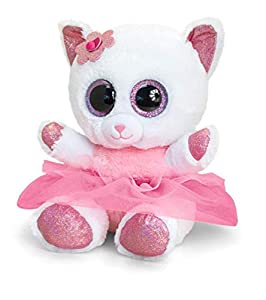 Keel Toys KEELTOYS - Peluche animotsu Gato, Bailarina, 25 cm, SF2417, Color Rosa