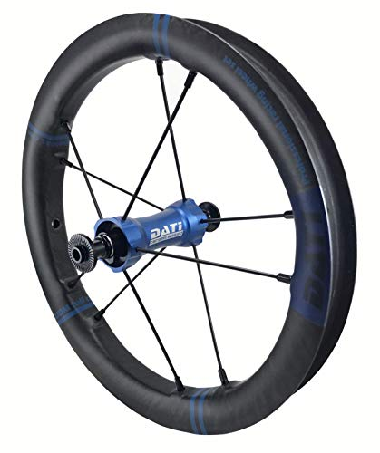 DATI XR-LINE Japan Limited Edition Push Kids Balance Bike Wheels Carbon Rim12 with CeramicSpeed Bearing (Blue, Strider :95 * 8MM) (Blau Balance Bike Strider)