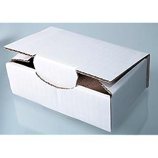 10er Pack Faltkarton RPT102 (weiß-braun-stabil) ca.120mm x 70mm x 40mm.Beispielsweise als Versand-, Waren- oder Geschenkverpackung.