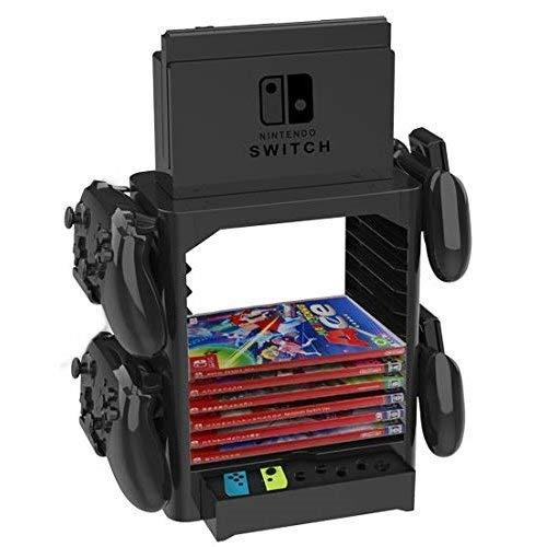 Homebase für Nintendo Switch Aufbewahrung Ständer inkl. Schublade, Platz für Controller und Spiele -