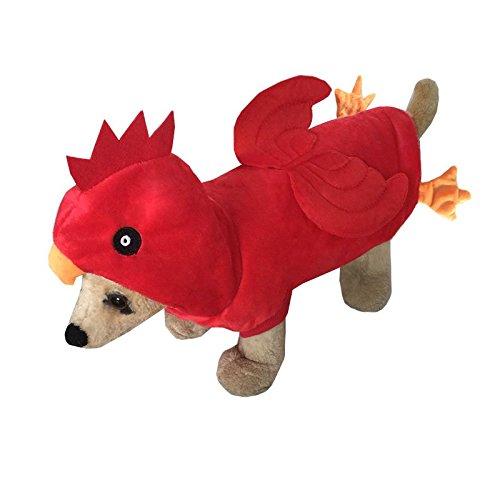 Pineocus Rot Huhn Stil Pet Hunde Cosplay Coat -