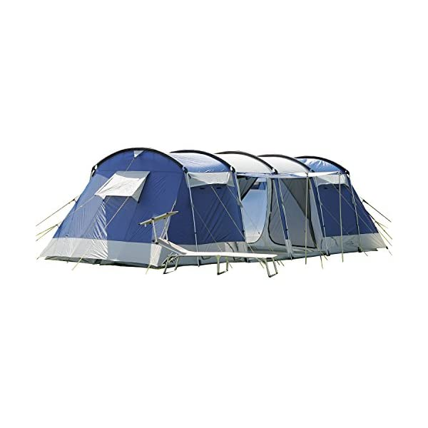 Skandika Montana Family Group Tunnel Tent with Sun Canopy, 200 cm Peak Height, 5000 mm Water Column 1