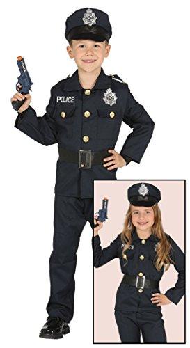 Imagen de disfraz de policía azul para niños