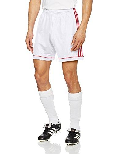 adidas Herren Squad 17 Shorts, White/Power red, S