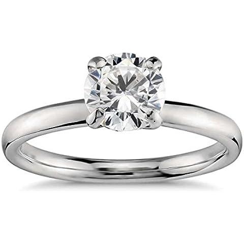 Lilu Jewels 1ct da donna in argento Sterling 925Unique Cut Moissanite Anello Di Fidanzamento Solitario