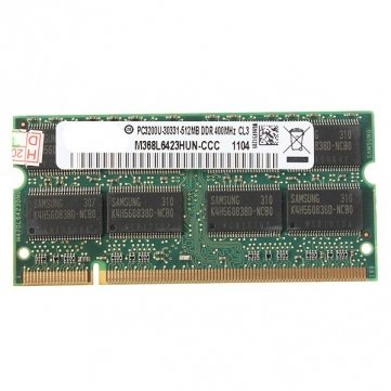 Obsidian 512 MB DDR-400 PC3200 Laptop Notebook ( SODIMM ) Speicher RAM KIT 200-Pin -