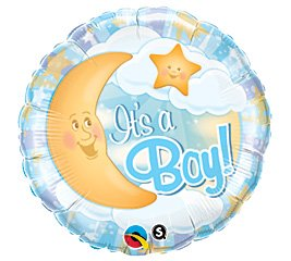 Helium Grade Folienballon 45,7 cm IT 'S A BOY -