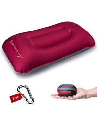 Bermunavy Camping Pillow, Inflatable Pillow Travel Pillow - Air Pillow Waterproof Lightweight and Comfortable for Neck & Lumbar Support - Ideal for Travel Backpacking Hiking Camping Fishing Beach