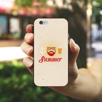 Apple iPhone X Silikon Hülle Case Schutzhülle Sommer Hipster Bart Silikon Case schwarz / weiß