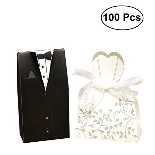 eihochzeitsbevorzugungskleid-Smokingbraut und Süßigkeitsbevorzugungskasten kreative Schokoladengeschenkbox für Geburtstagsbrautpartydekoration ()