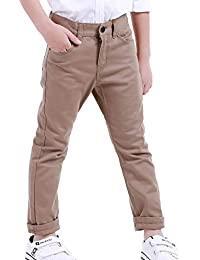 9bf47579d NABER Kids Boys' Fashion Adjustable Waist Dress Pants Suit Trousers Age  4-13 Yrs