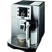 DeLonghi One Touch ESAM 5500.M Kaffee-Vollautomat (1,7 Liter, 15 bar, Milchbehälter, Pronto Cappuccion Funktion) silber