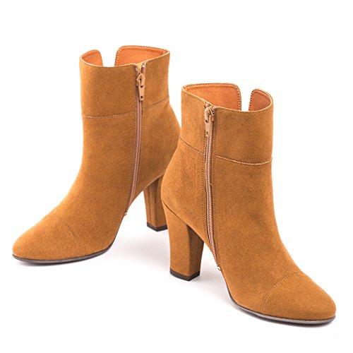 NAE Bline - Damen Vegan Stiefel (38, Braun) - 4