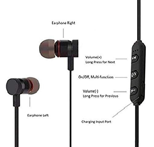 BT-JJBL Bluetooth Wireless Earphones 5.0 in-Ear Headphones with Microphone Stereo Sport Headsets for All Andriod & iOS Smartphones (Black) Image 5