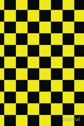 Journal: Black and yellow checkers notebook