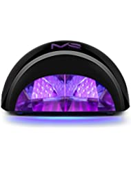 MelodySusie® VIOLETILI Sèche Ongles Lampe LED pour Gel LED - 12W Noir