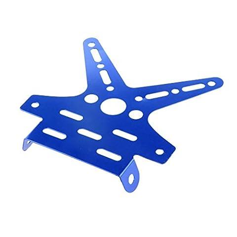 Support de Plaque D'immatriculation Moto En Alliage Réglable - Bleu