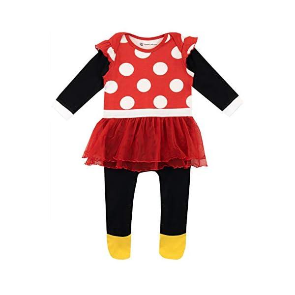 Disney Pijama Conjunto de Pijama Entera y Gorro para Niñas Bebés Minnie Mouse 2