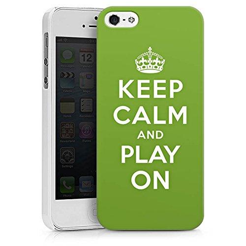 Apple iPhone X Silikon Hülle Case Schutzhülle Keep Calm Games Konsole Hard Case weiß