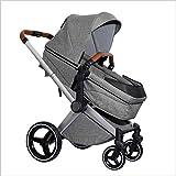 QZX Kinderwagen Buggy Baby Kind Kinderwagen kann Sich hinsetzen und hinlegen Falten Zwei-Wege-Implementierung Geeignet für 0-3-jährige Kinder