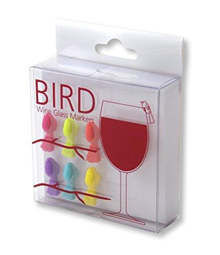 outlook-design-oiseau-vrr0100145-lot-de-6-verre-en-silicone-multicolore