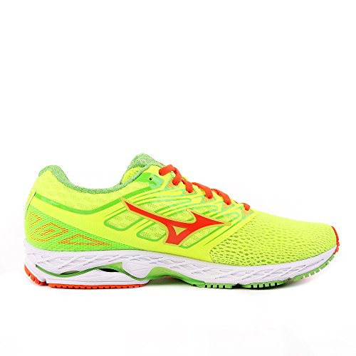 Mizuno Wave Shadow, Scarpe da Ginnastica Uomo Giallo (Safety Yellow/Red Orange/Jasmine Green)