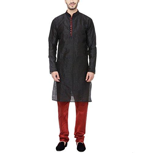 Cenizas-Art-Silk-Blend-Kurta-Pyjama-For-Men